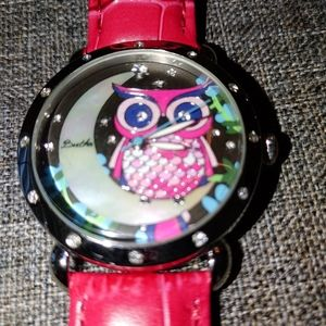Bertha owl watch with leather band